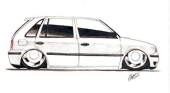 um gol quadrado com frente do gol g4 car interior design